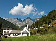 Church of S-charl, near Scuol, Val S-charl