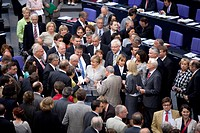 Politicians in the Bundestag on 07.07.2011 during the vote on the Pregenetic diagnosis PGD