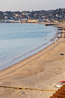 United Kingdom, England, Swanage Beach View; Dorset