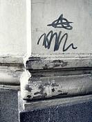 Urban graffity and corner
