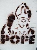 Pope graffity, Berlin