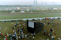 Hot Air Balloon world record 70,000 feet at Mahalaxmi race course , Mumbai bombay, Maharashtra, India