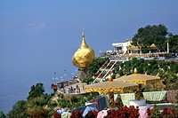 myanmar, golden rock temple