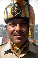 DPA-RSC-109540 South Asian Indian Indo Tibetan border police force in military uniform  Mussoorie  Uttaranchal  India  For Editorial use only