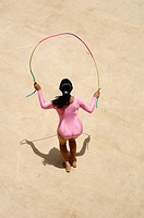 National champion doing rhythmic gymnastics in all india thane mayor cup gymnastics , Thane , Maharashtra , India