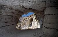 Marine erosion at Mount St Angelo, Gargano National Park, Puglia, Italy.