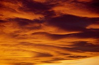 Clouds at sunset in the sky of Aliano, Basilicata region, Italy.