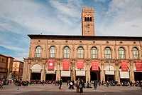 Palazzo del Podesta and the Piazza Maggiore, Bologna; Italy.