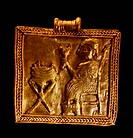 Gold plated brooch from Assyria Circa 9-7 Century BC.