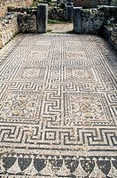 patterned mosaic,Volubilis Morocco.