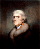 IAM-020266 Rembrandt Peale artist Painting of Thomas Jefferson 1805