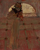 Misia at the Opera. Vuillard, Édouard (1868-1940). Oil on canvas. Nabis. c. 1900. France. National Gallery of Australia, Canberra. 27x21,5. Portrait,G...