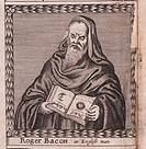 Roger Bacon (From: The order of the Inspirati). Anonymous . Copper engraving. Baroque. 1659. Private Collection. Portrait. Graphic arts.
