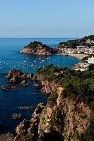 Spain - Costa Brava - View of Tossa de Mar