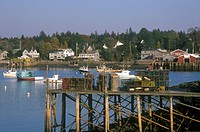 Lobster Traps and Bass Harbor, ME, Maine