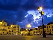 Ponferrada square. Leon. Spain. Europe.