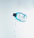 Diving mask with splashing water, close up