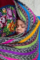 Maya baby, Poaquil, Guatemala