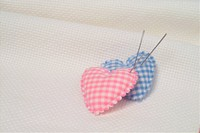 heart shaped pincushions