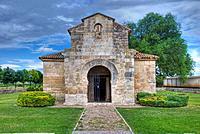 Visigothic Church of San Juan Bautista San Juan de Baños. 7th Century. Baños de Cerrato. Palencia Province. Castilla y Leon. Spain.