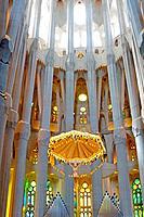 Barcelona (Spain). High Altar of the Sagrada Familia in Barcelona.