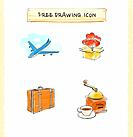 illustration drawing of icons