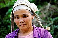 Vietnam, province of Hoa Binh, national Park of Cuc Phuong, Ban Ko Muong, White Thai ethnic group woman.
