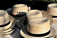 Straw hats, souvenirs, Vinales, Valle de Vinales, Pinar del Rio province, Cuba, Greater Antilles, Central America, America