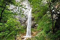 Wildenstein waterfall at Obir, Obir-Massif, near Gallizien, Carinthia, Austria