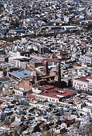 Mexico, Zacatecas, aerial view from the summit of Cerro de la Bufa.