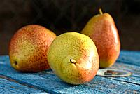 Forelle variety of pear fruit.