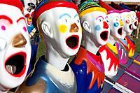 Fairground clowns, Bellengen, NSW, Australia.