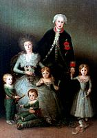 'The Duke of Osuna and his Family', 1788. Found in the collection of the Prado, Madrid, Spain.