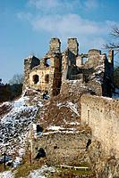 Maiden Stone Castle Ruins, the Southern Bohermia, Czech Republic
