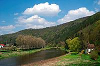 Czech republic,Krivoklatsko,valley river Berounka ,