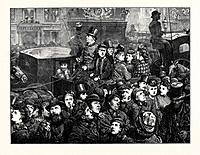 The Crowd Illuminated, 1872 Engraving