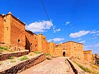 Kasbah Taourirt - adobe traditional building in eastern Ouarzazate, Morocco, Africa.