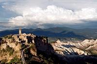 Civita di Bagnoregio and Calanchi. Viterbo District, Lazio, Italy.