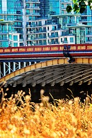 Vauxhall Bridge. over the River Thames, in London England on a sunny Summers day.