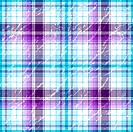 Repeating violet-white grunge checkered pattern
