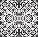 Seamless decorative retro pattern