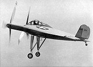 Vought V-173 experimental aircraft. The Vought V-173 was built in 1942 for the US Navy. The semi-circular all-wing design earned it the nick-name of â...