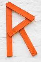 Larger letter R