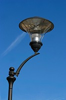 Lamp with blue sky in background