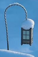 Snow covered lantern