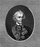 ALEXANDER VASILYEVICH SUVOROV Russian military commander during the Revolutionary Wars