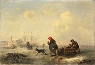 Neva in Saint Petersburg in Winter, 1844. Found in the collection of the Rijksmuseum, Amsterdam.
