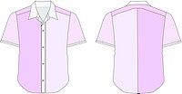 Collar Dress Shirt In Purple Color Tones