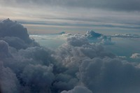 Cloudscape viewed from an airplane, Canada