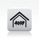 Vector illustration of poker house icon